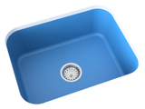 sky-blue blue undermount kitchen sink