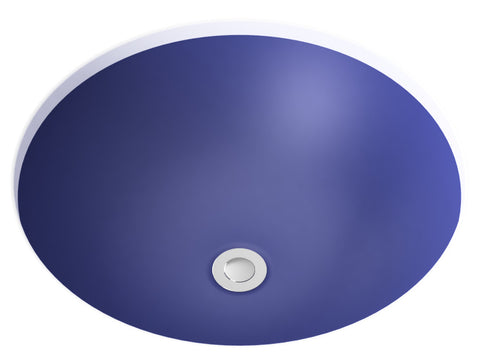 cobalt blue undermount bathroom sink