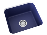 cobalt blue laundry sink