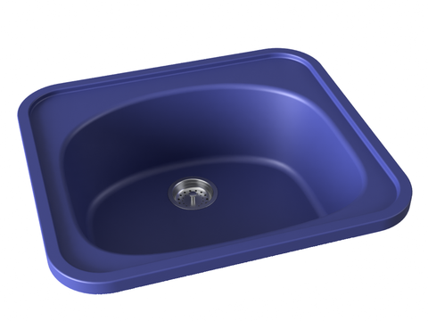 cobalt blue drop-in kitchen bar sink