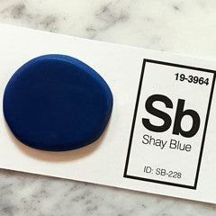 cobalt blue sink sample chip