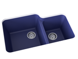 cobalt blue double basin kitchen sink