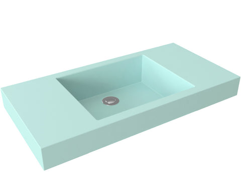 silver grey flat bottom vessel bathroom sink