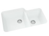 white double basin kitchen sink