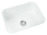 white kitchen undermount sink