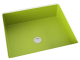 apple green flat bottom undermount bathroom sink