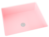 blush pink flat bottom undermount bathroom sink
