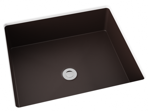 brown flat bottom undermount bathroom sink