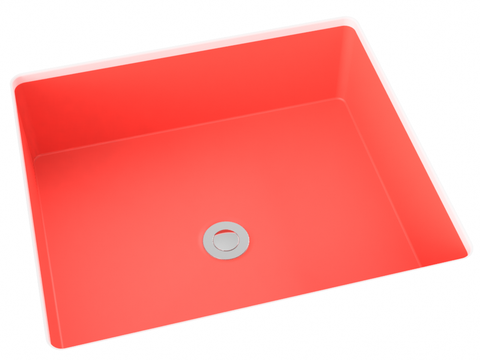 coral flat bottom undermount bathroom sink