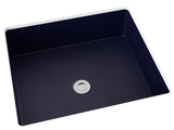 navy blue flat bottom undermount bathroom sink