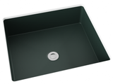 forest green flat bottom undermount bathroom sink