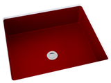 red flat bottom undermount bathroom sink