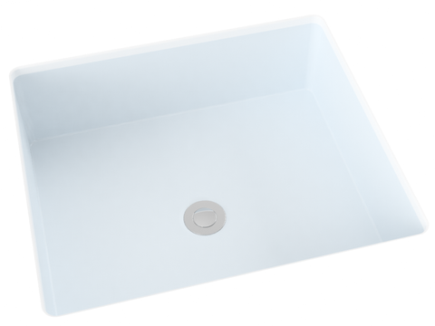 grey blue flat bottom undermount bathroom sink