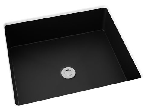 midnight black flat bottom undermount bathroom sink