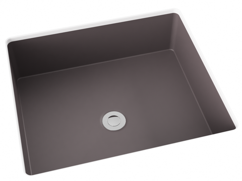 grey brown flat bottom undermount bathroom sink