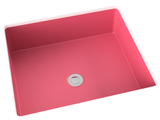 berry pink flat bottom undermount bathroom sink
