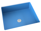 sky-blue blue flat bottom undermount bathroom sink