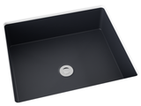 dark grey flat bottom undermont bathroom sink