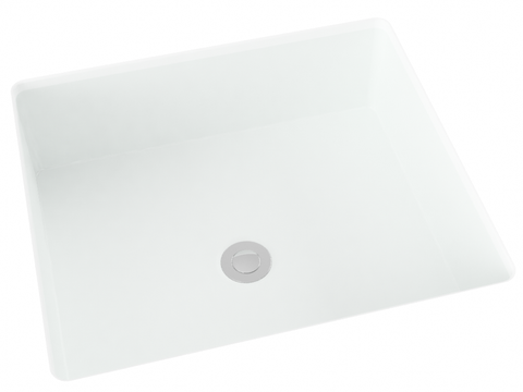 white flat bottom undermount bathroom sink