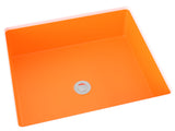 orange flat bottom undermount bathroom sink