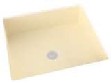 off-white cream flat bottom undermount bathroom sink