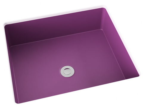 purple pink flat bottom undermount bathroom sink