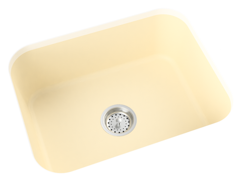 off-white cream undermount kitchen sink