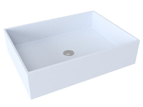 grey blue flat bottom vessel bathroom sink