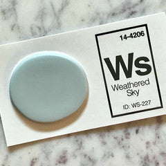 grey-blue sink sample chip