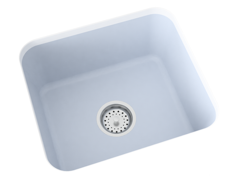 blue grey undermount laundry sink