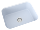 blue grey undermount kitchen sink