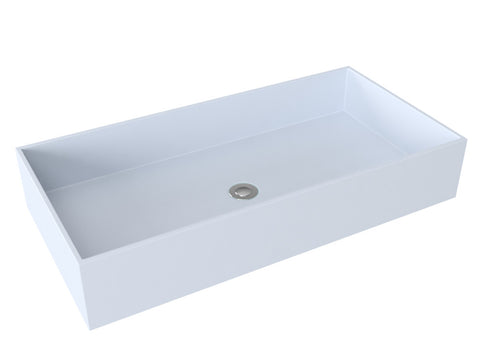 blue-grey grey vessel wallmountable bathroom sink