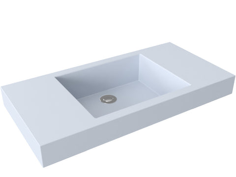silver sage grey flat bottom vessel bathroom sink