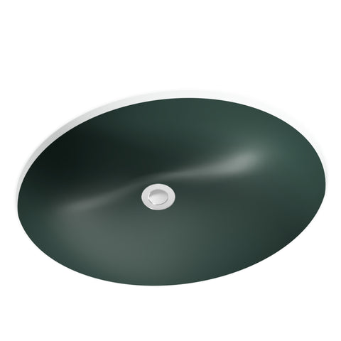 forest green undermount bathroom sink
