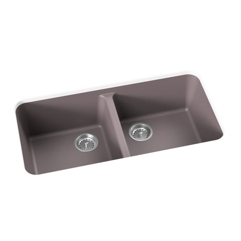 "Double Bowl Undermount Kitchen Sink, 34"" - Bobby"