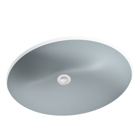 grey silver undermount bathroom sink