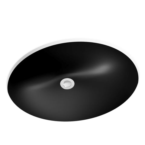 midnight black undermount bathroom sink