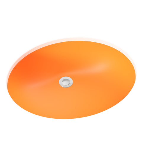 orange undermount bathroom sink