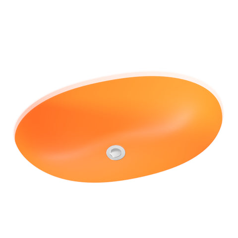 orange undermount round bathroom sink