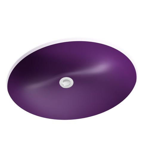 purple undermount bathroom sink