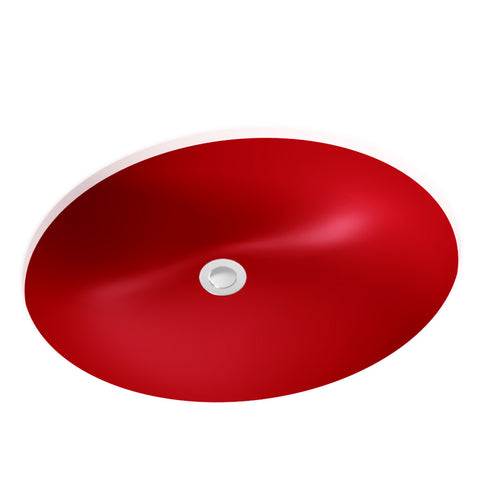"Oval Undermount Bathroom Sink, 18"" - Jess"