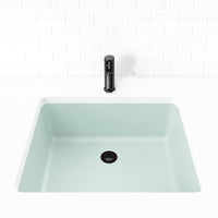 silver grey undermount bathroom sink