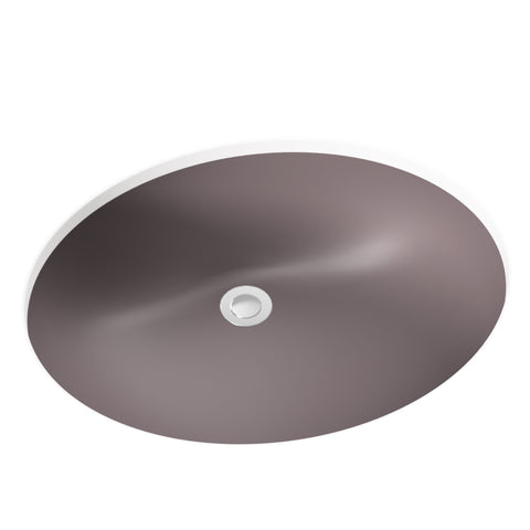 warm grey undermount bathroom sink