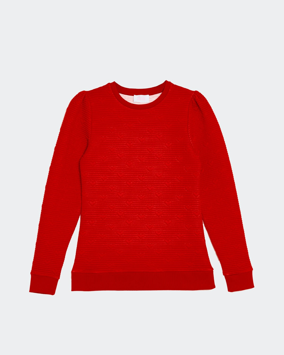 Juliet Heart Bubble Sweatshirt rojo