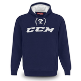 Sudadera CCM True2hockey Fleece Hood Navy Jr.