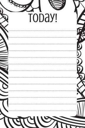 today daily to do list printable notepad stationery