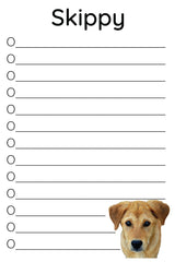 personalized pet calendar and notepads | remove photo background