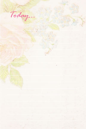 vintage floral staionery printable notepad