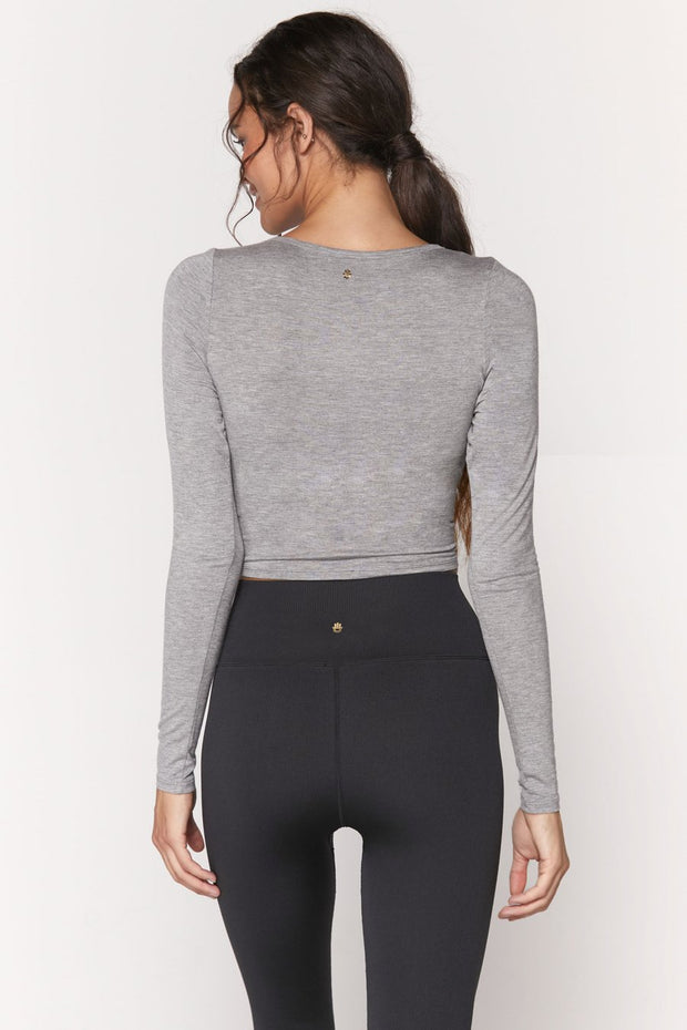 Muse Twist Front Long Sleeve Top