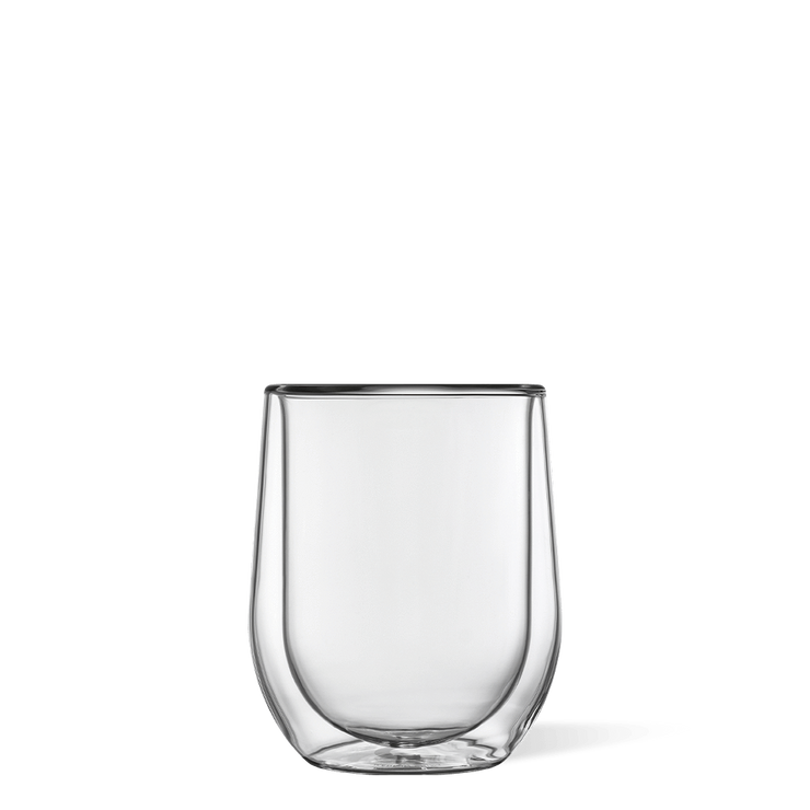 Glass Stemless - double pack clear